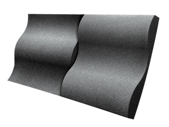 Auralex Studio Foam Wave - Charcoal ערכה אקוסטית